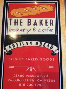 the baker menu